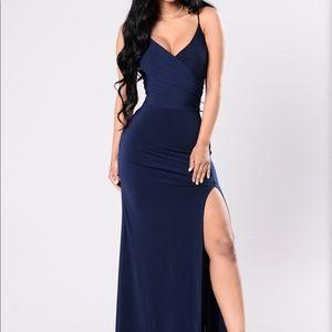 Navy Blue Fashion Nova Formal Dress